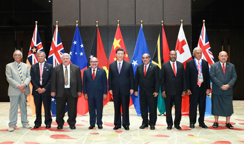 △2018年11月16日,国家主席习近平同建交太平洋岛国领导人举行集体会晤。