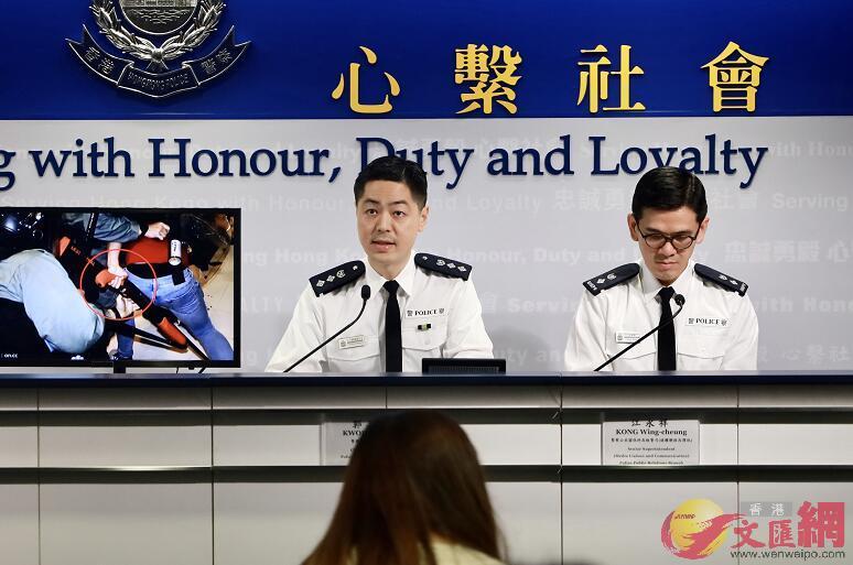郭嘉铨强调,警方会继续主动执法,以保障市民的安全。(图源:文汇网)