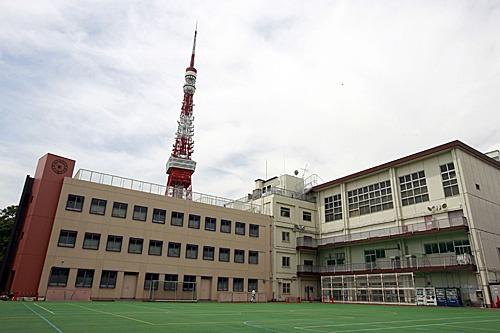 資料圖:毗鄰東京塔的日本東京港區私立正則高中校園(新華社)