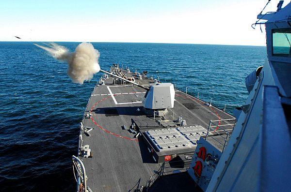 """资料图:美军""""福雷斯特·谢尔曼""""号驱逐舰(美国海军官网)"""