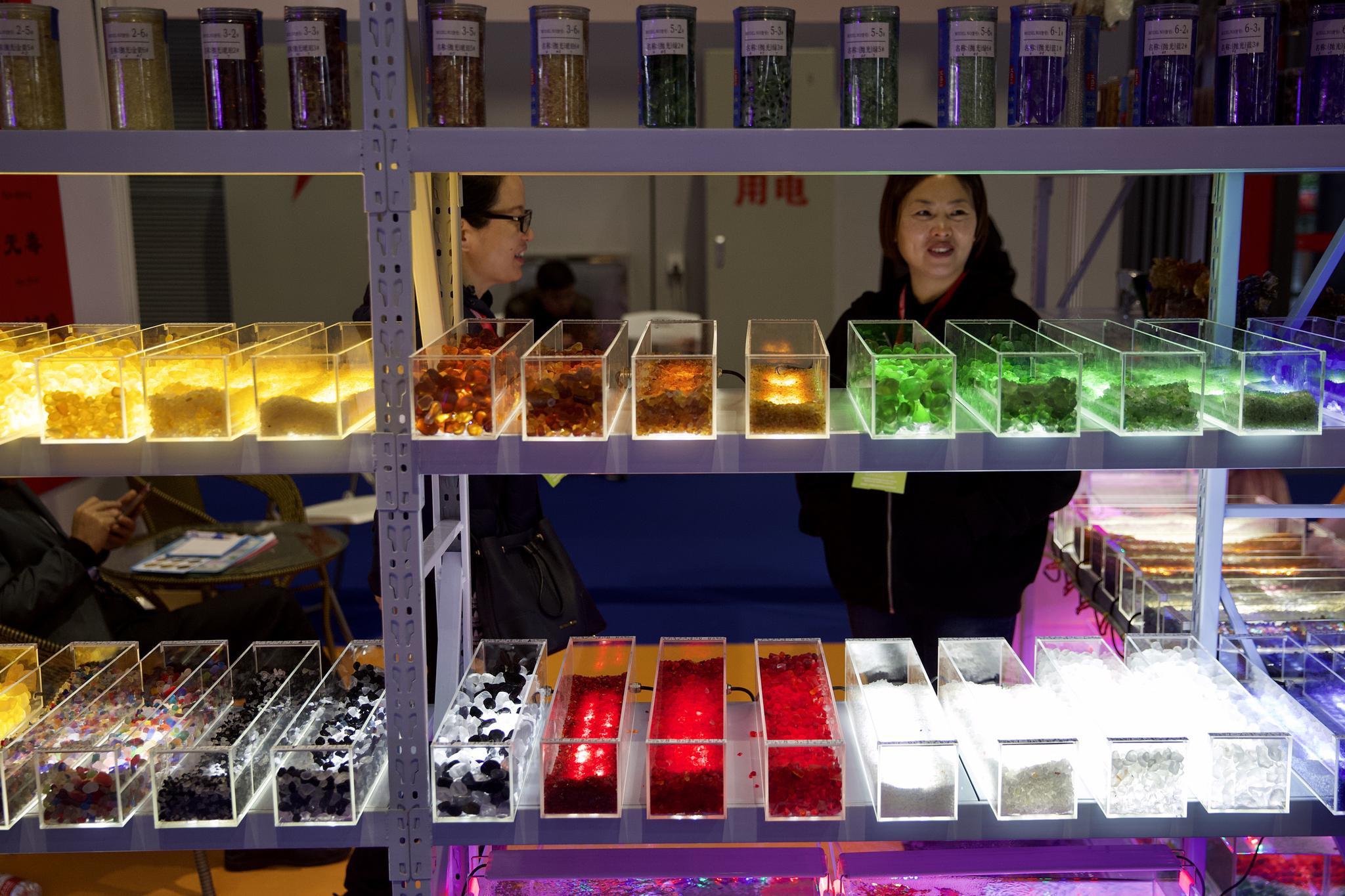 11月22日,上海国际会展中心,中国国际宠物水族展上的参展商。新京报记者 郑新洽 摄