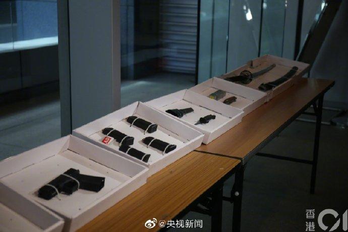 """""""修例风波""""以来 香港警方首次检获真枪实弹"""