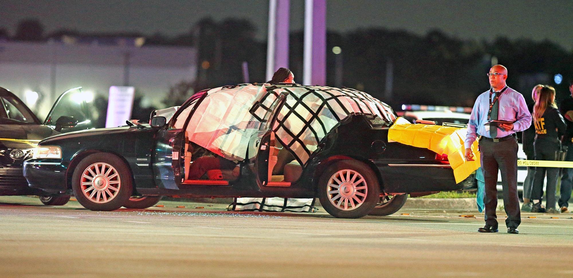 一名乘车经过的路人被子弹击中 图自:社交媒体