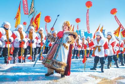 哈尔滨采冰节开幕