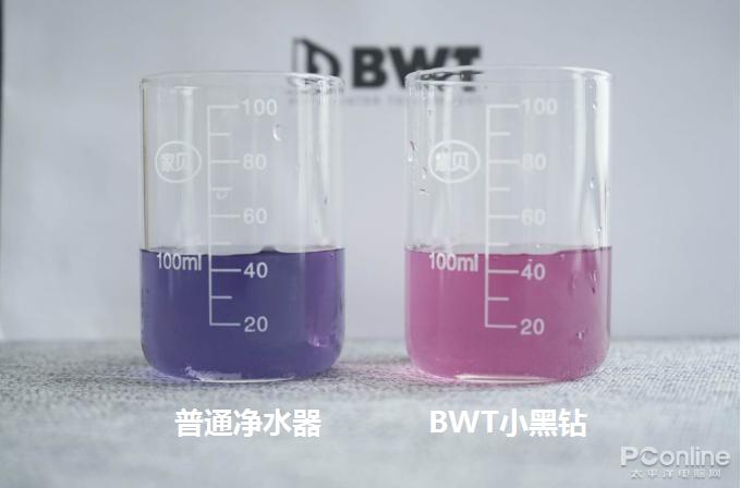 注:越接近紫红色代表钙镁离子浓度越高,越接近蓝色则