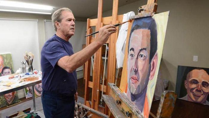 小布什第二本油画集《合众为一:美国移民肖像》明年出版
