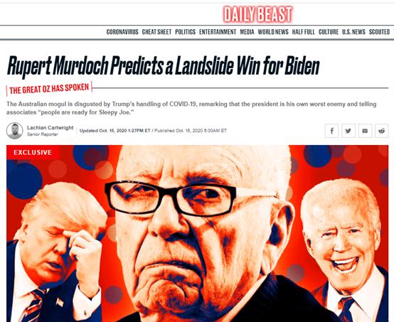 美媒:特朗普的一个重要盟友认为他将惨败!