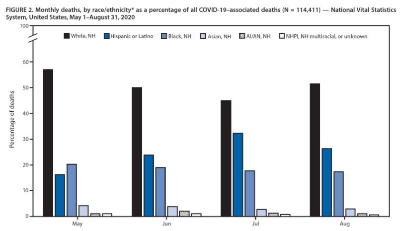 美国疾控中心:新冠肺炎死亡病例中少数族裔占比颇高