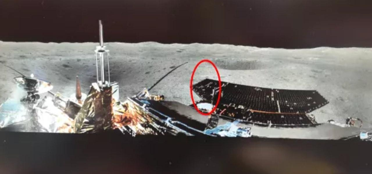 △月外中子与辐射剂量探测仪在着陆器上的安置位置