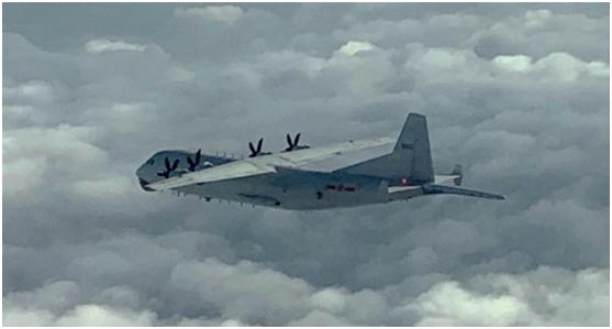 台防务部门:解放军运-8反潜机下午进入台西南空域