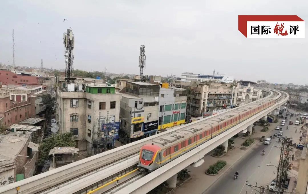 △巴基斯坦拉合尔轨道交通橙线项目正式开通运营的图