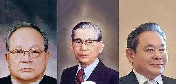 从左到右挨次为:李孟熙、李秉喆、李健熙