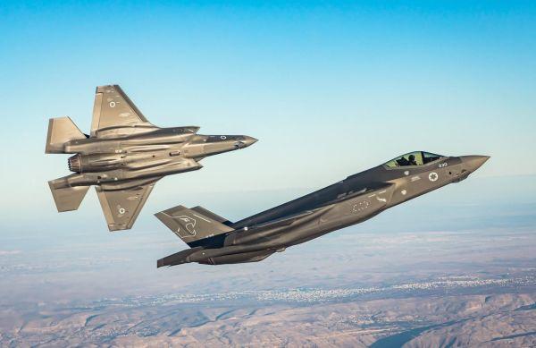 原料图片:以色列空军F-35I隐身战机编队训练。(以色列国防部官网)