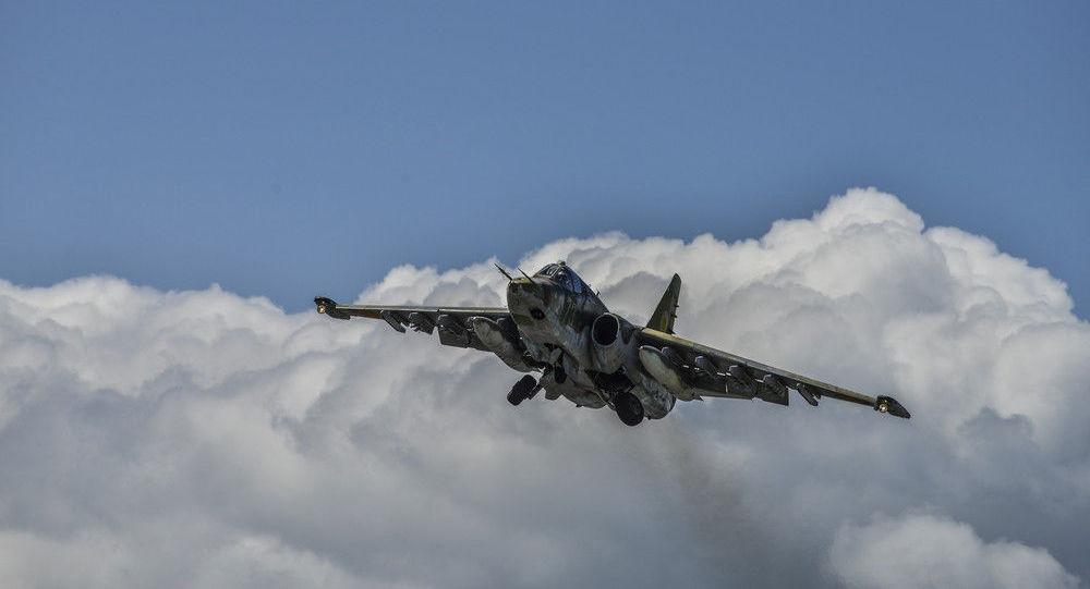 △亚美尼亚国防部苏-25战机(原料图)