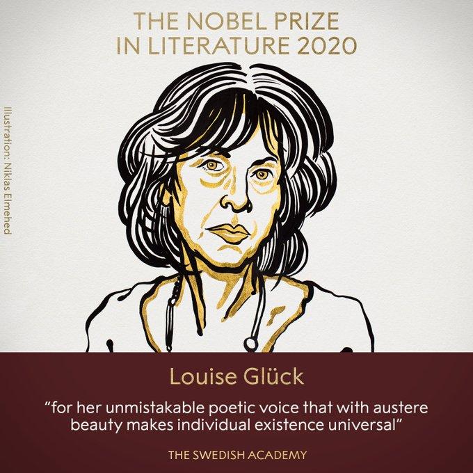 2020年诺贝尔文学奖揭晓,美国女诗人格丽克获奖