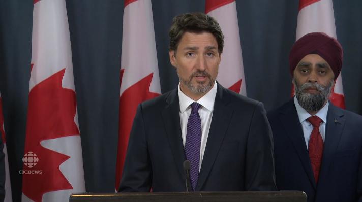 添拿大总理特鲁多(图源:CBC)
