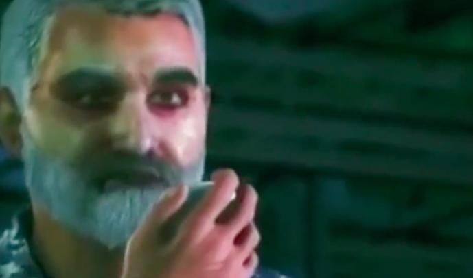 伊朗动画电影中的苏莱曼尼。图/BBC纪录片《《影子司令:伊朗军事行家苏莱曼尼》