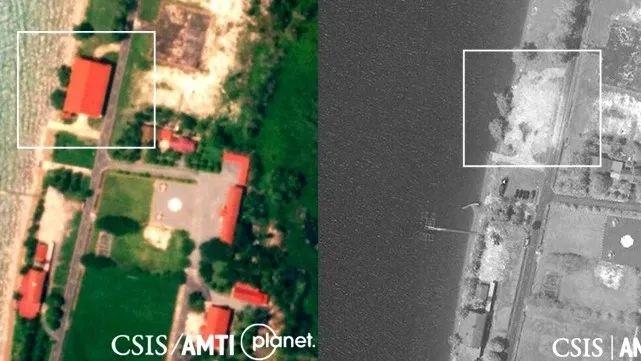 第二次拆除的卫星照片对比