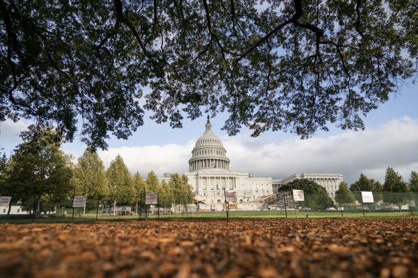 这是11月1日在美国华盛顿拍摄的美国国会大厦。新华社
