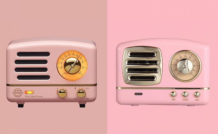 左为猫王幼王子OTR,右为中电微HM11蓝牙音箱