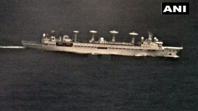 ▲(10月,中国科考船进入印度洋海域。)