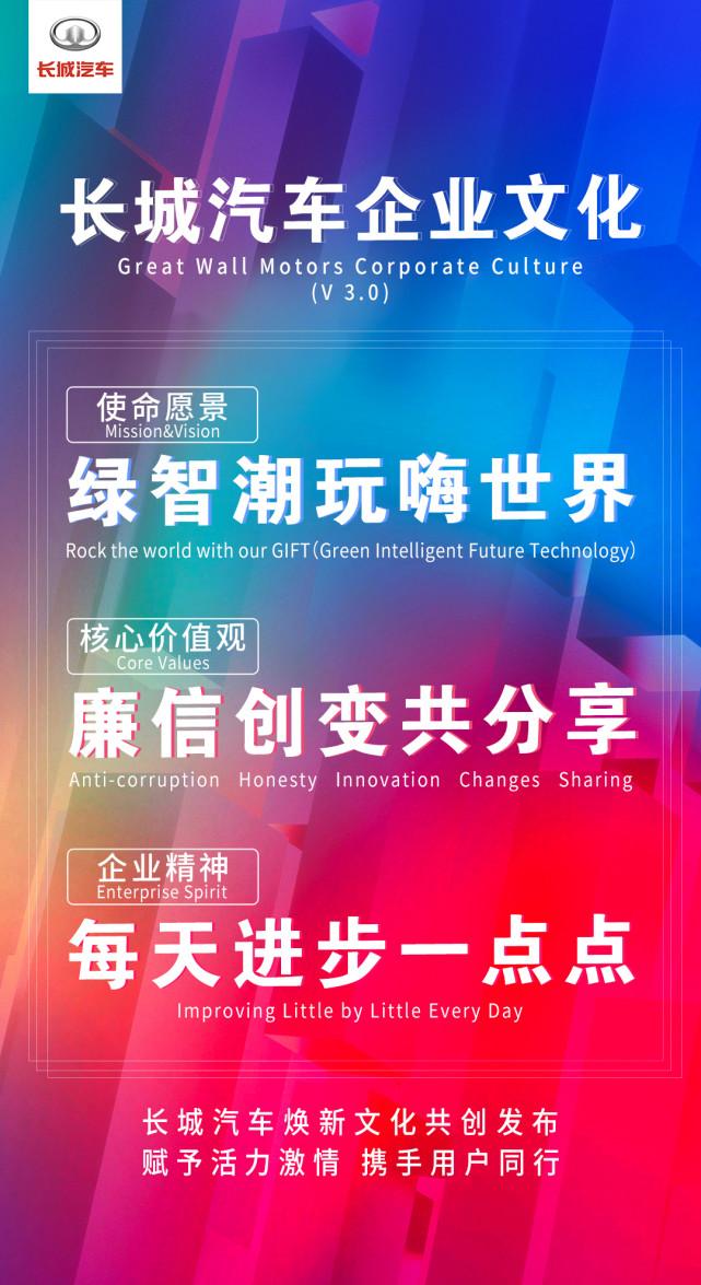 长城汽车发布21字全新企业文化 自我变革开辟新赛道