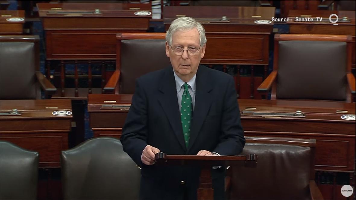 麦康奈尔当地时间11月16日在参议院发言 视频截图
