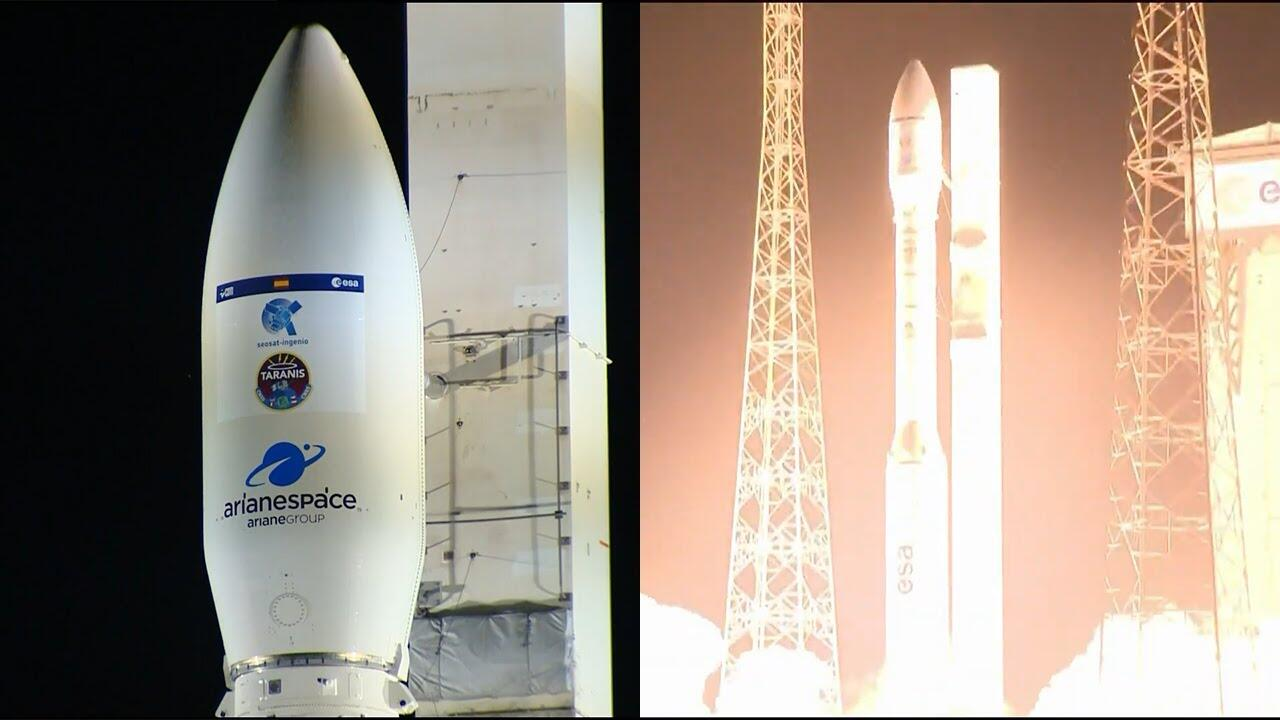 欧洲一箭双星发射失败 火箭点火8分钟后发生偏离