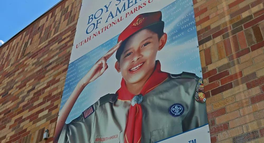 原料图:美国童军海报。(法新社)