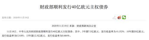 首只负利率主权债券来了!国际投资者踊跃认购 中国债真香