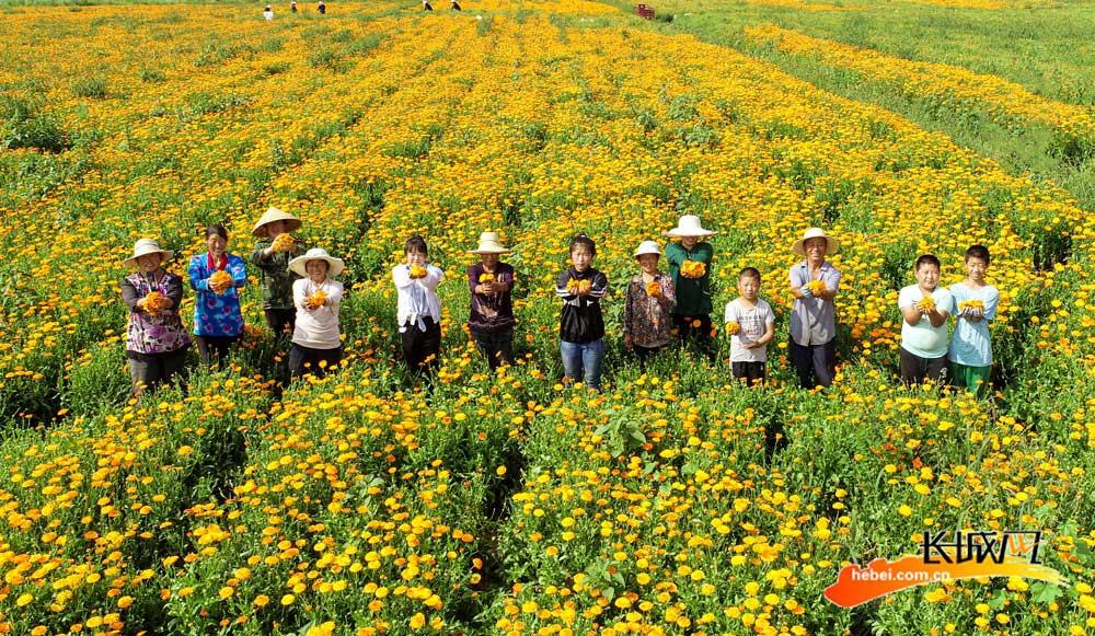 村民喜气洋洋迎接小康。