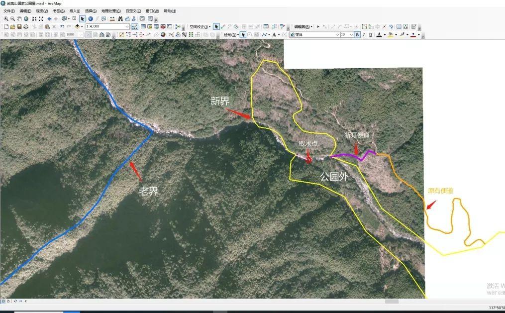 图2:农人山泉公司施工地址示意图