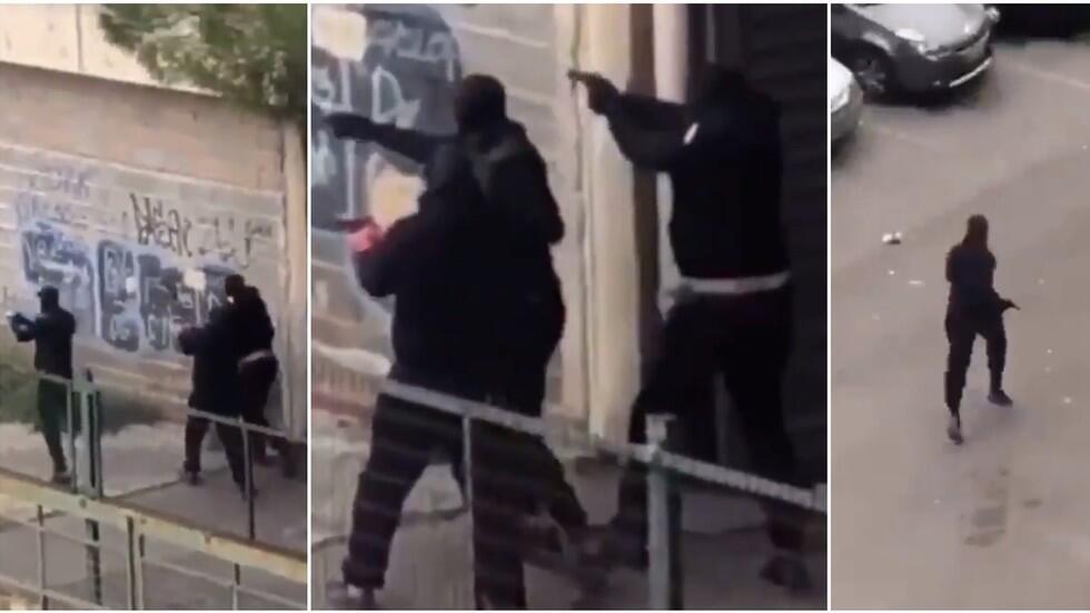 光天化日之下,法国街头两帮派爆发激烈枪战!