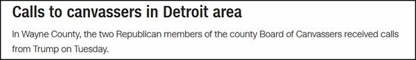 """""""打电话给底特律地区的官员"""",CNN报道截图"""