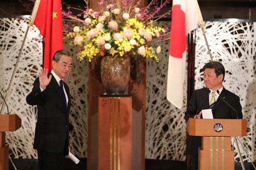 王毅:中日达成五点重要共识和六项具体成果