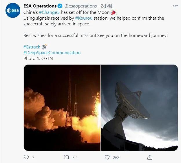 欧洲航天局这才叫祝贺