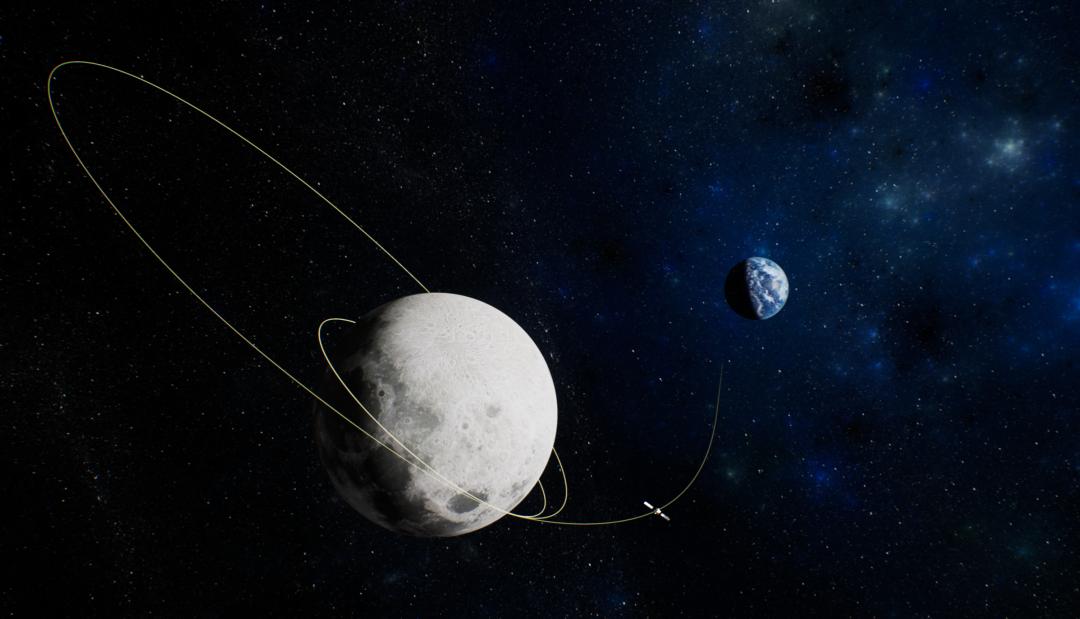 嫦娥五号探测器在轨工作效果图,航天八院供图。下同