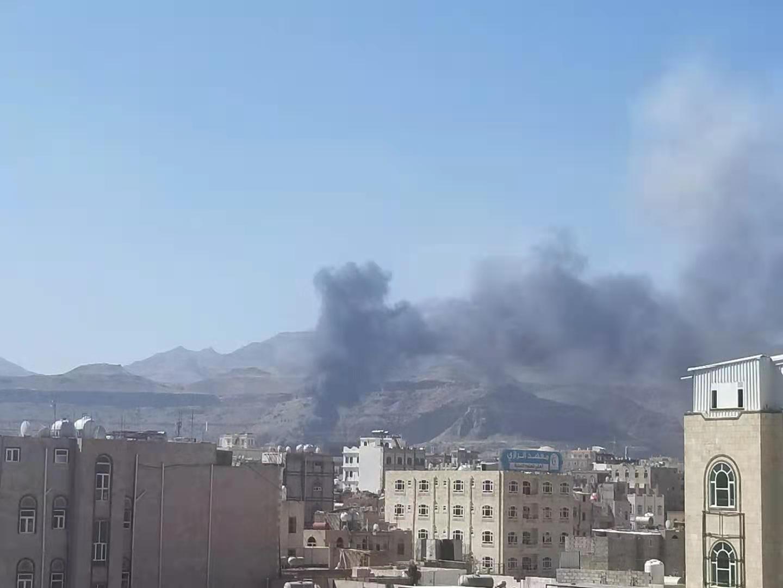 沙特联军针对也门首都萨那展开新一轮空袭