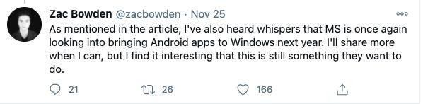 抄苹果作业:Win10明年原生支持Android应用 微软真慌了?的照片 - 2