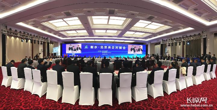 衡水·北京央企对接会现场。长城网记者 卢婉凤 摄