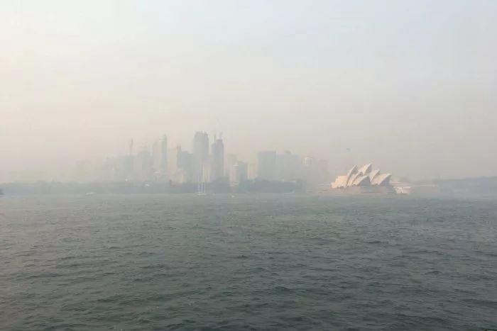 悉尼空气污染图,图源:ABC新闻