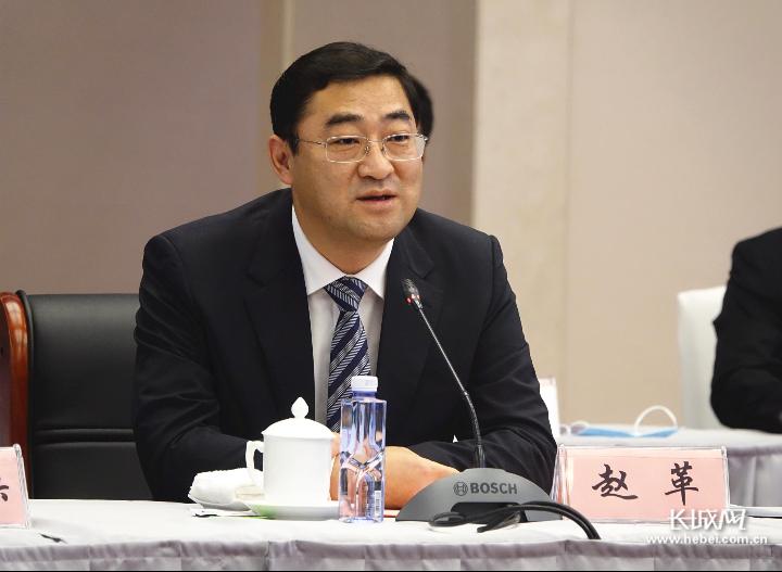 中共衡水市委书记赵革致欢迎词。长城网记者 卢婉凤 摄