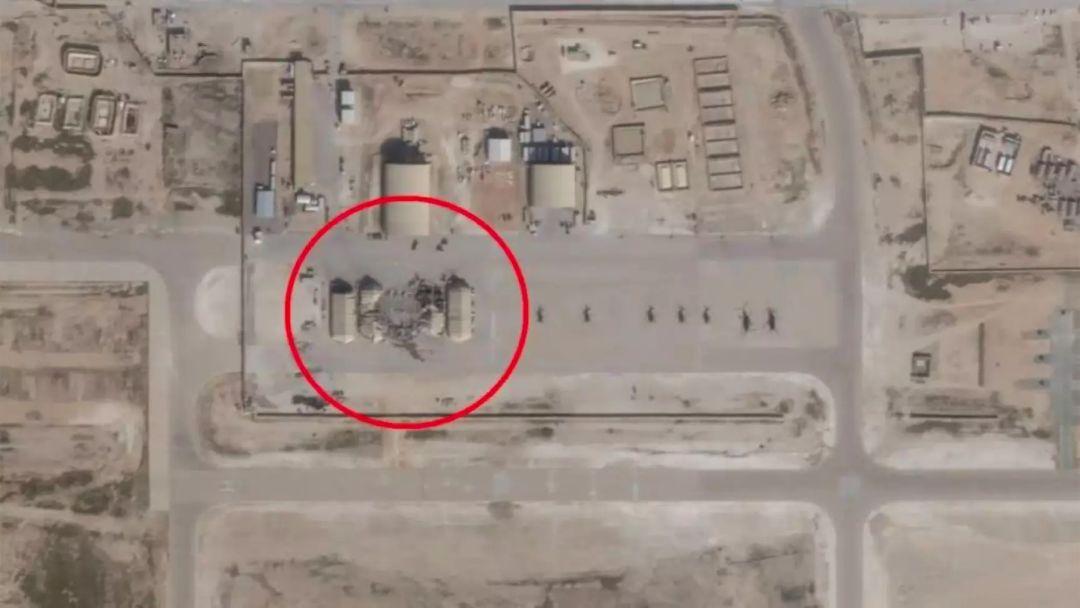 伊朗袭击阿萨德基地的卫星图