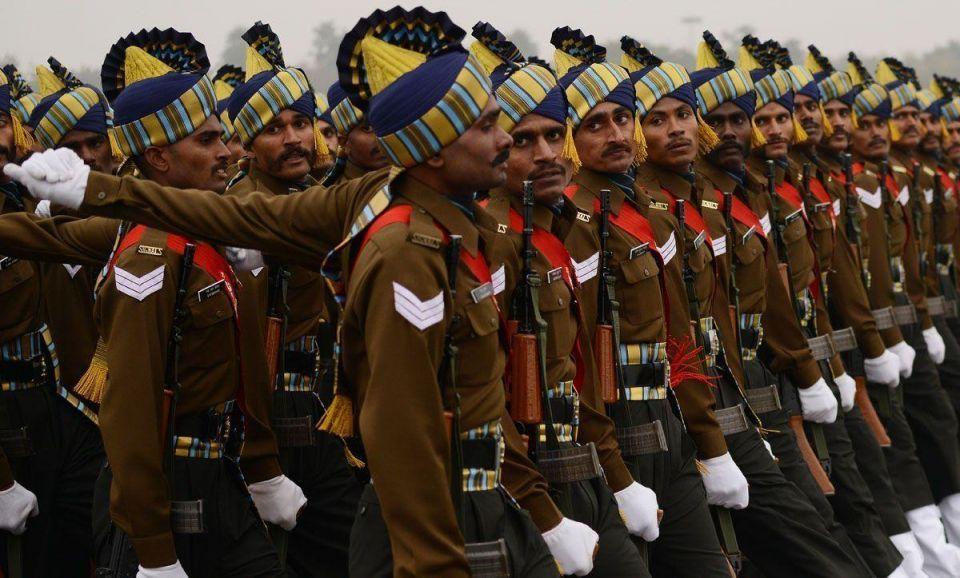 印度士兵(法新社原料图)