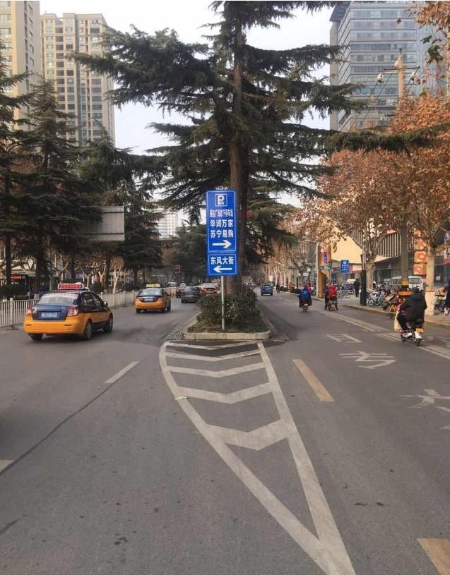 渭南城区这个地方可借公交车道通行喽