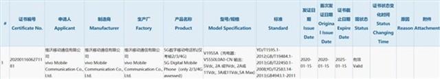 vivo NEX 3的骁龙865版取得3C认证 配备8GB内存+55W快充