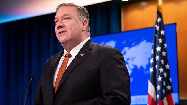 美国国务卿蓬佩奥(图源:CNN)