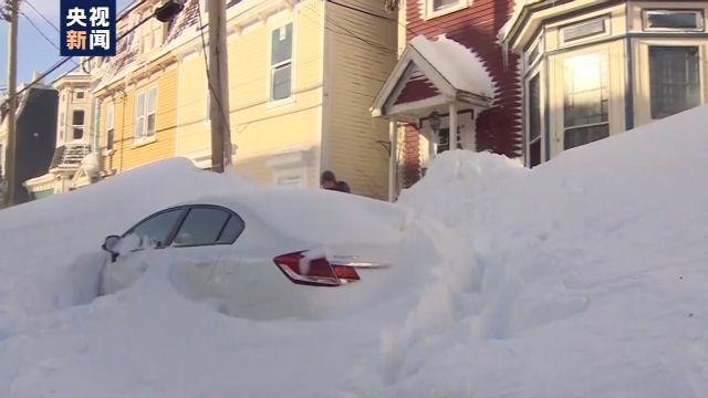 加拿大东部积雪严重 部分省市紧急状态仍未解除