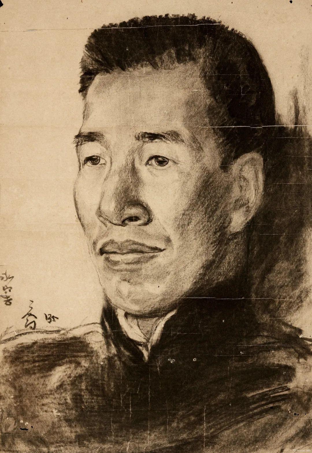 ▲司徒乔 容庚像 46×31.4cm 纸本素描 1935年 莞城美术馆藏