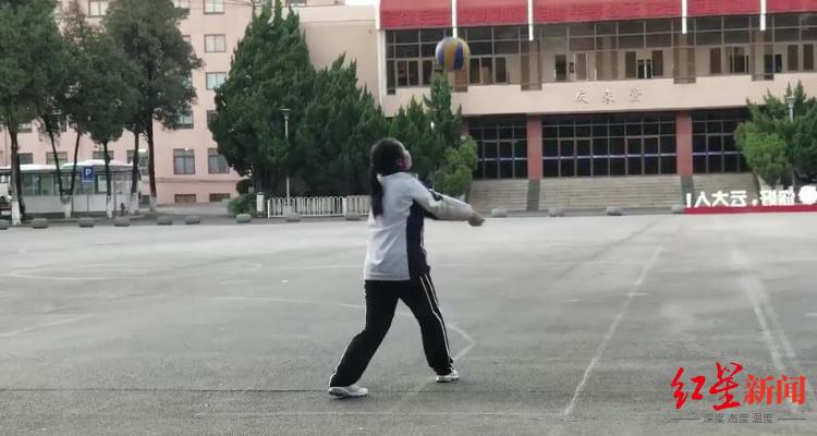 ▲云南,正在进走体育训练的孩子